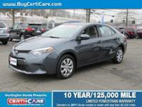 This 2016 Toyota offered at Certicare  Huntington.  The