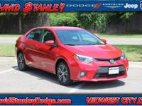 Corolla LE Plus, 4D Sedan, Automatic, FWD, and Red.