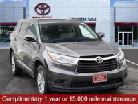 Certified. Predawn Gray Mica 2016 Toyota Highlander LE