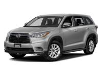 This 2016 Toyota Highlander is a new arrival to our