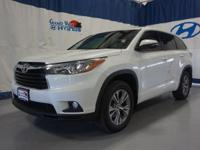 2016 Toyota Highlander LE V6 and in Blizzard Pearl at