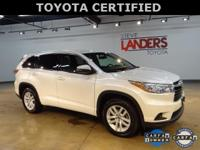 Toyota Certified. LE V6, Alloy wheels, Exterior Parking