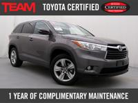 Toyota Certified 2016 Highlander Limited AWD featuring