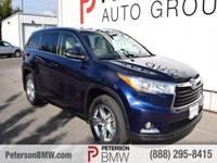 Elegant in Blue, our 2016 Toyota Highlander Limited AWD