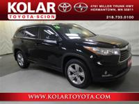 Black 2016 Toyota Highlander Limited Platinum V6 AWD
