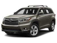 Gray 2016 Toyota Highlander Limited Platinum V6 AWD