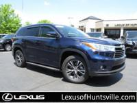 2016 Toyota Highlander XLE with navigation, leather and