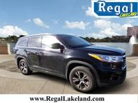 New Price! Midnight Black 2016 Toyota Highlander XLE V6