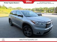 New Price! Certified. 2016 Toyota Highlander XLE V6 in