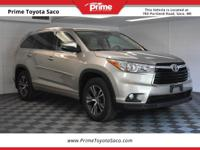 CARFAX One-Owner. 2016 Toyota Highlander XLE V6 in