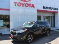 Black 2016 Toyota Highlander XLE V6 AWD 6-Speed