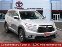 Certified. Gray 2016 Toyota Highlander XLE V6 AWD
