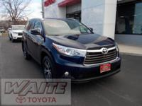 2016 Toyota Highlander XLE V6 Nautical Blue Metallic