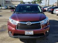 Options:  2016 Toyota Highlander Xle V6|Red|Carfax
