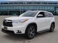 We are excited to offer this 2016 Toyota Highlander.