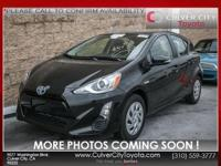 Options:  2016 Toyota Prius C Two|Black|Toyota