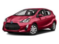 Options:  2016 Toyota Prius C Two|Black Sand