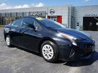 CARFAX One-Owner. Clean CARFAX. Black 2016 Toyota Prius