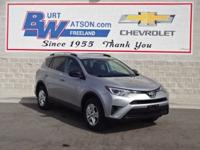 2016 Rav4 LE **Bluetooth Capabilities**Rear Back-Up