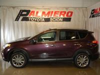 This 2016 Toyota RAV4 Limited in Black Currant Metallic