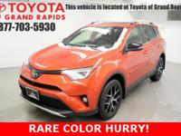 Certified. Hot Lava 2016 Toyota RAV4 SE AWD 6-Speed