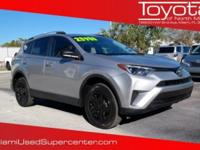 CARFAX One-Owner. Silver 2016 Toyota RAV4 LE FWD