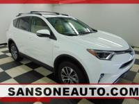 CARFAX One-Owner. Clean CARFAX. White 2016 Toyota RAV4