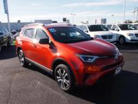 2016 Toyota RAV4 LE Orange Certified by Carfax - No