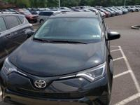 CARFAX One-Owner. Black 2016 Toyota RAV4 LE AWD 6-Speed