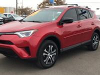 CARFAX One-Owner. Clean CARFAX. Red 2016 Toyota RAV4 LE