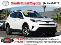 CARFAX One-Owner. Clean CARFAX. 2016 Toyota RAV4 LE FWD