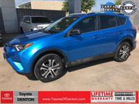 Clean CARFAX. Electric Storm Blue 2016 Toyota RAV4 LE