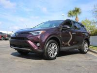 2016 Toyota RAV4 Limited, *** 1 FLORIDA OWNER *** CLEAN