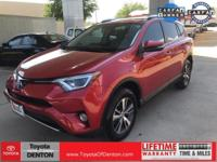 CARFAX One-Owner. Red 2016 Toyota RAV4 XLE FWD 6-Speed