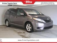 CARFAX One-Owner. 2016 Toyota Sienna LE in Predawn Gray