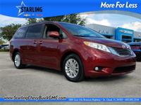 New Price! This 2016 Toyota Sienna XLE in Red features: