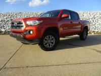 Orange 2016 Toyota Tacoma V6 RWD 6-Speed Automatic V6