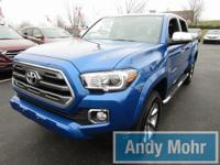Clean CARFAX. 2016 Toyota Tacoma Limited in Blazing