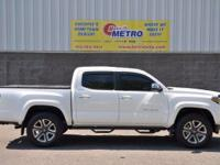 2016 Toyota Tacoma Limited  in Super White, Bluetooth