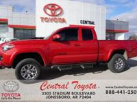 4WD. Clean CARFAX. 2016 Toyota Tacoma SR5 4D Access Cab