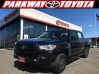 Certified. Black 2016 Toyota Tacoma SR V6 4WD 6-Speed