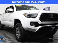 Super White 2016 Toyota Tacoma SR5 4WD 6-Speed