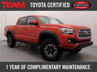 Super Clean 2016 Toyota Certified Tacoma TRD Offroad