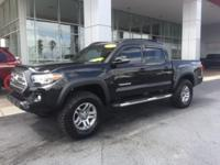 New Price! Clean CARFAX. Black 2016 Toyota Tacoma TRD