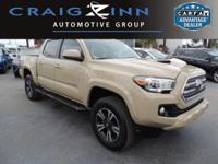 CarFax 1-Owner, This 2016 Toyota Tacoma TRD Sport will