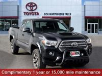 Certified. Black 2016 Toyota Tacoma TRD Sport 4WD