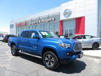 CARFAX One-Owner. Blazing Blue Pearl 2016 Toyota Tacoma