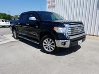 CARFAX One-Owner. Black 2016 Toyota Tundra Limited RWD