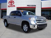 Certified. Clean CARFAX. Silver Sky Metallic SR5 4WD