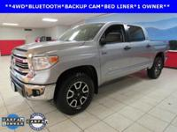 ONE OWNER, BACKUP CAM, BED LINER, BLUETOOTH, Tundra TRD